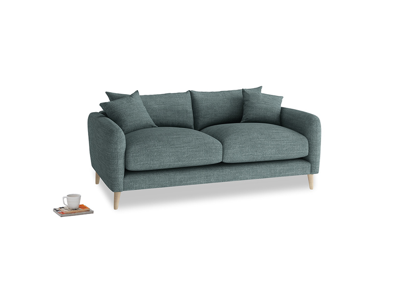 Small Squishmeister Sofa in Anchor Grey Clever Laundered Linen