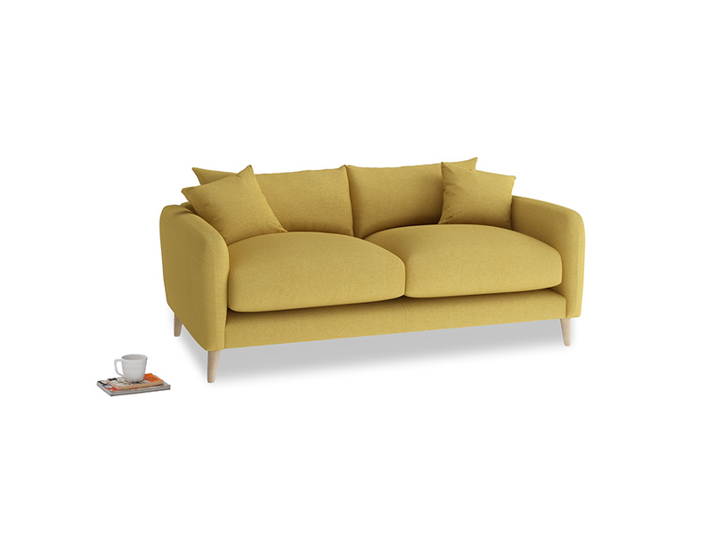 Small Squishmeister Sofa in Easy Yellow Clever Woolly Fabric