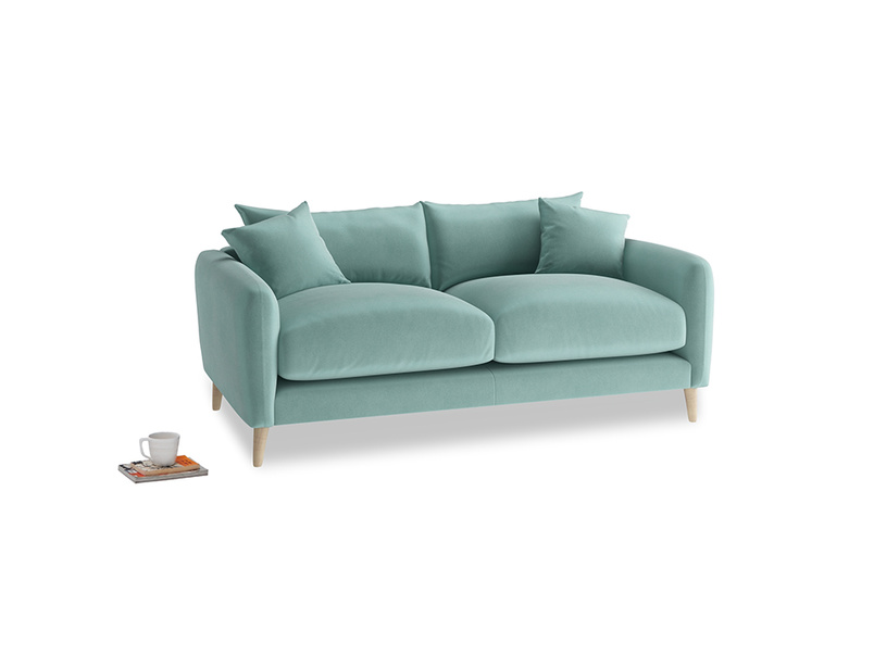 Small Squishmeister Sofa in Greeny Blue Clever Deep Velvet