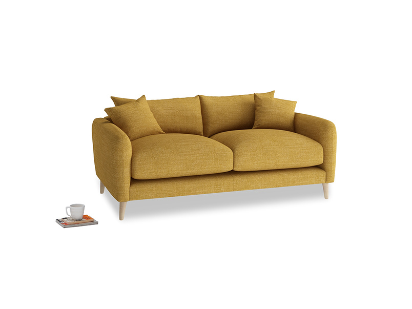 Small Squishmeister Sofa in Mellow Yellow Clever Laundered Linen