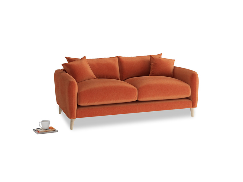 Small Squishmeister Sofa in Old Orange Clever Deep Velvet