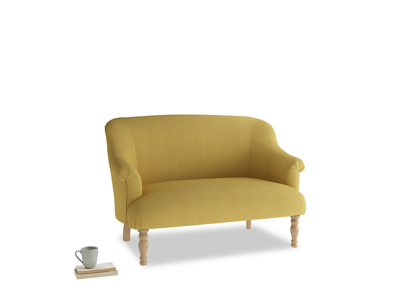 Small Sweetie Sofa in Easy Yellow Clever Woolly Fabric