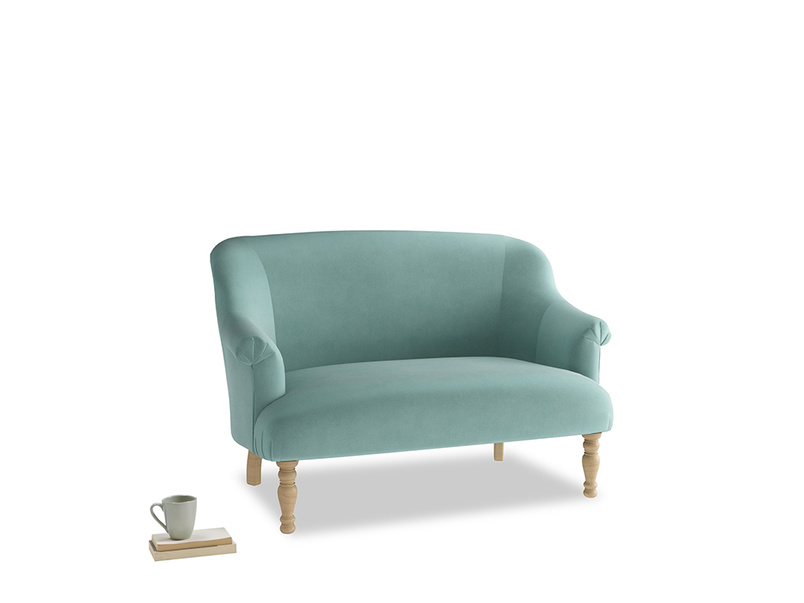 Small Sweetie Sofa in Greeny Blue Clever Deep Velvet