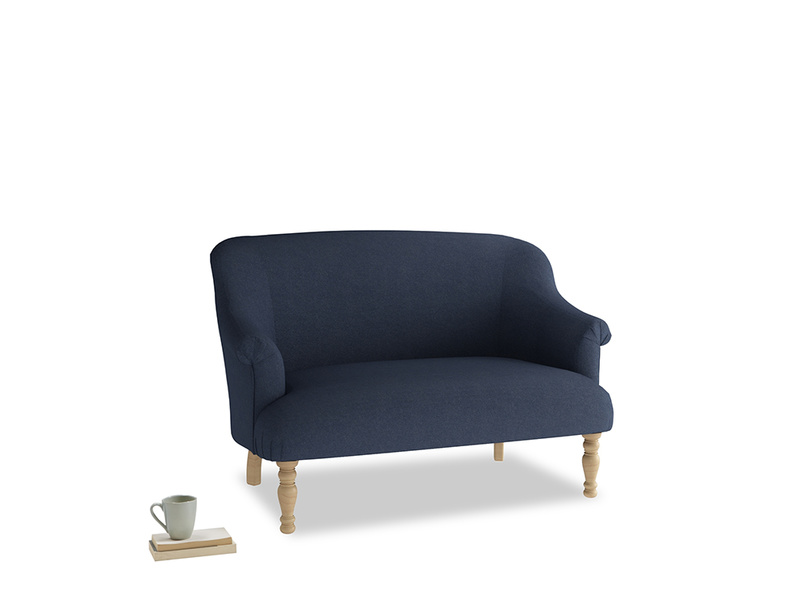 Small Sweetie Sofa in Night Owl Blue Clever Woolly Fabric