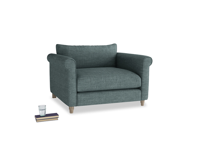 Weekender Love seat in Anchor Grey Clever Laundered Linen