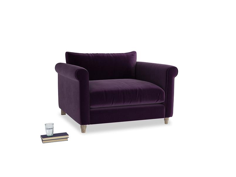 Weekender Love seat in Deep Purple Clever Deep Velvet