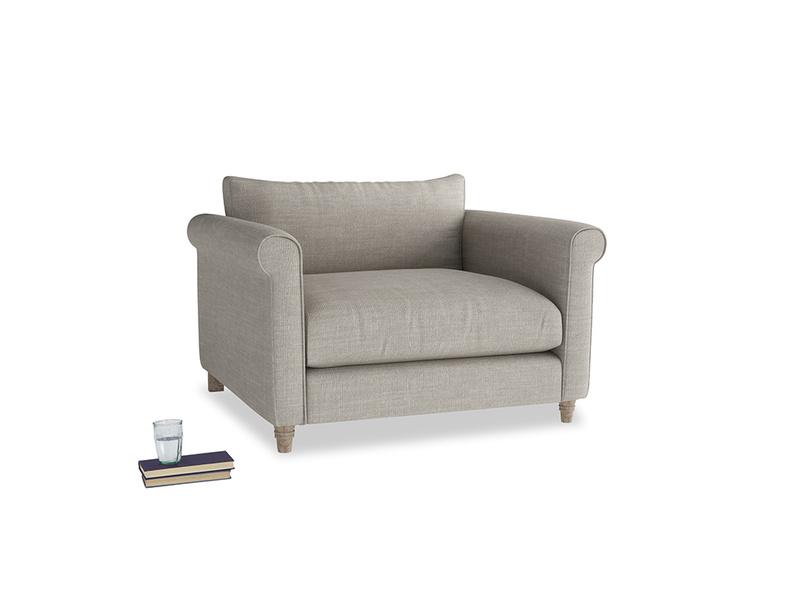Weekender Love seat in Grey Daybreak Clever Laundered Linen