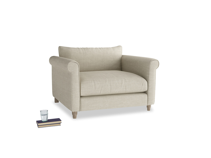 Weekender Love seat in Shell Clever Laundered Linen