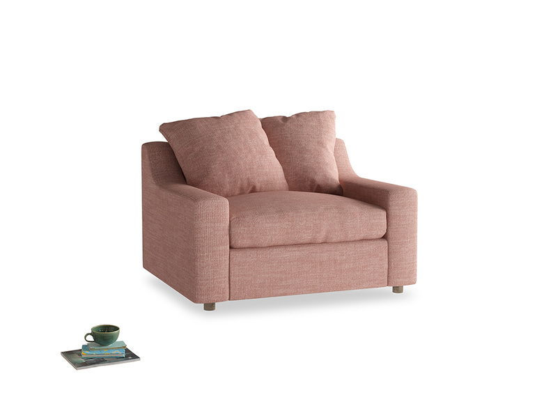 Cloud love seat sofa bed in Blossom Clever Laundered Linen