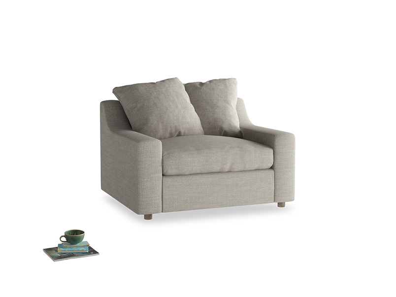 Cloud love seat sofa bed in Grey Daybreak Clever Laundered Linen