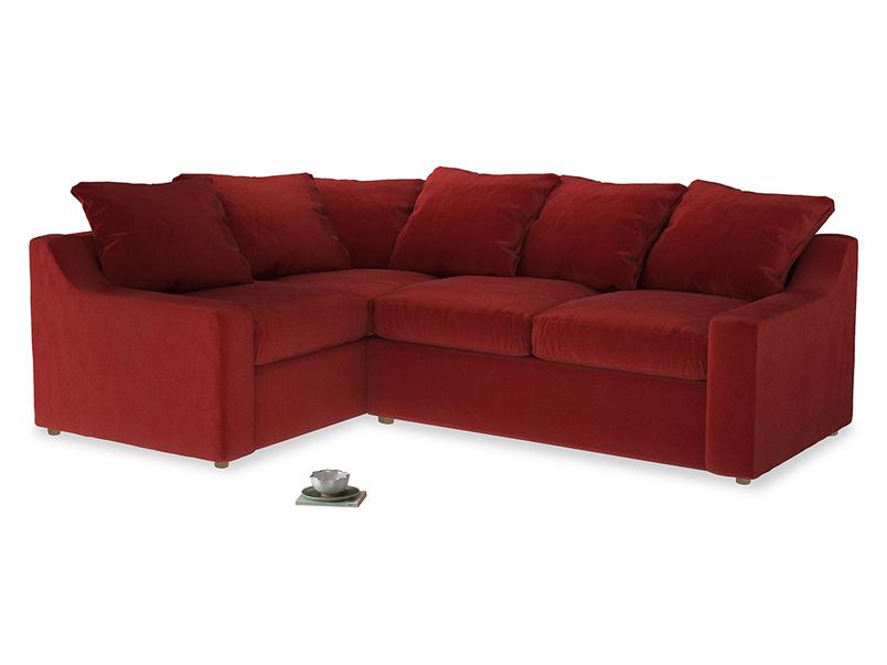 Large Left Hand Cloud Corner Sofa in Rusted Ruby Vintage Velvet