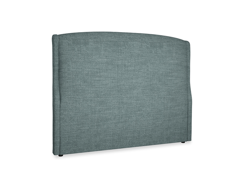 Kingsize Dazzler Headboard in Anchor Grey Clever Laundered Linen