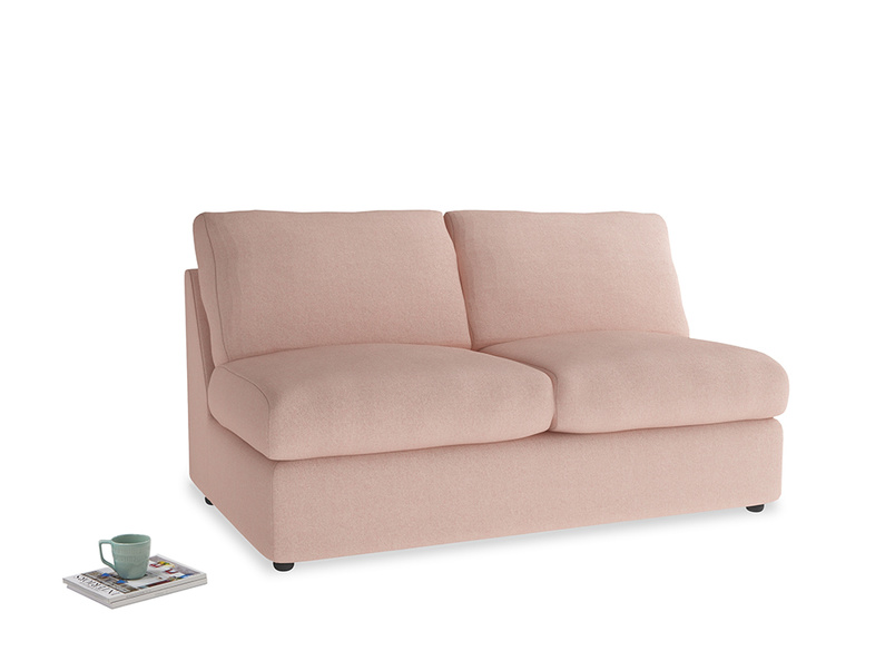 Chatnap Storage Sofa in Pale Pink Clever Woolly Fabric