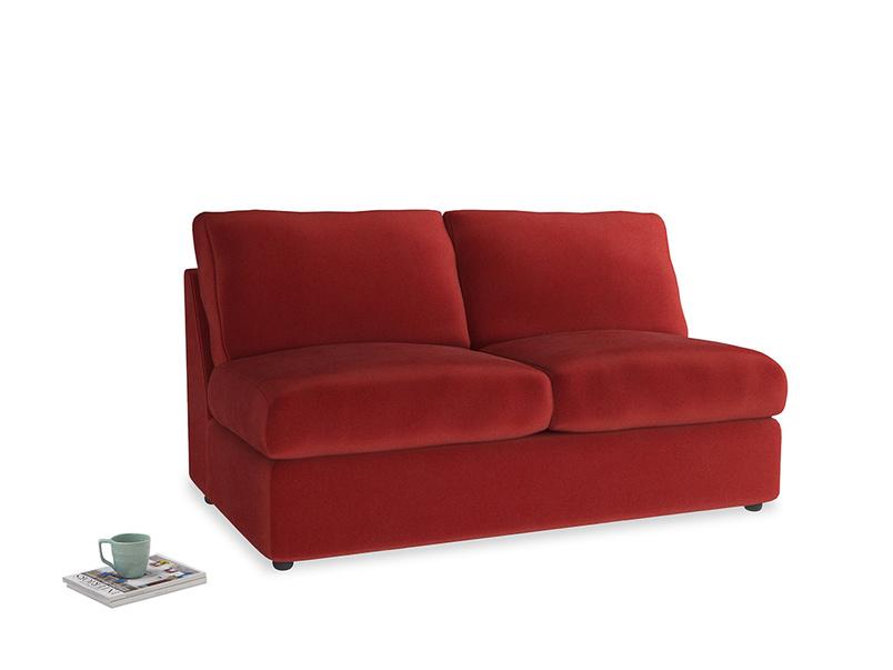 Chatnap Storage Sofa in Rusted Ruby Vintage Velvet