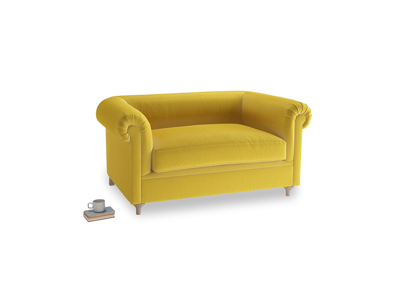 Small Humblebum Sofa in Bumblebee clever velvet