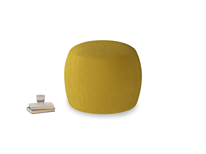 Little Cheese in Burnt yellow vintage velvet
