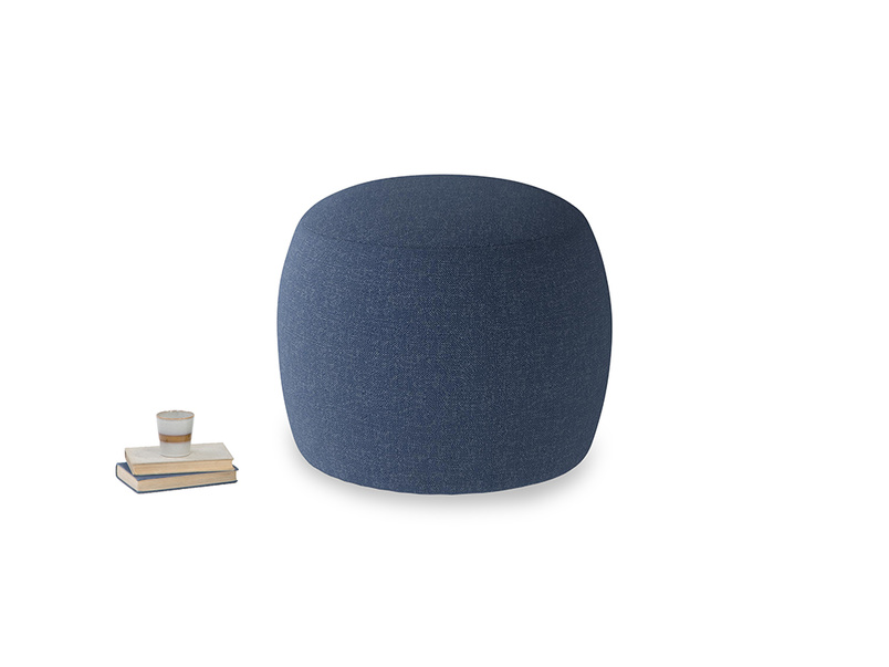 Little Cheese in Navy blue brushed cotton