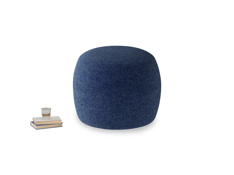 Little Cheese in Ink Blue wool
