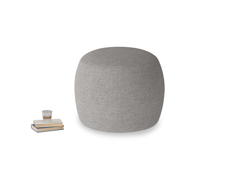 Little Cheese in Marl grey clever woolly fabric