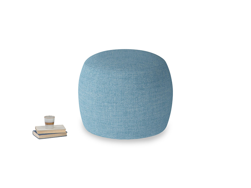 Little Cheese in Moroccan blue clever woolly fabric