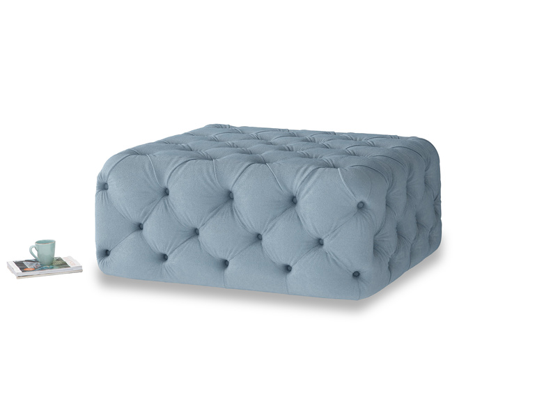 Oops-a-Lazy in Chalky blue vintage velvet