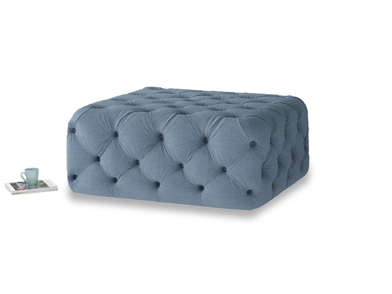 Oops-a-Lazy in Nordic blue brushed cotton