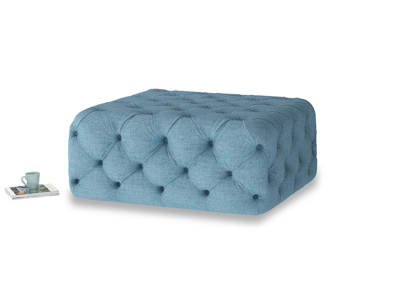 Oops-a-Lazy in Moroccan blue clever woolly fabric