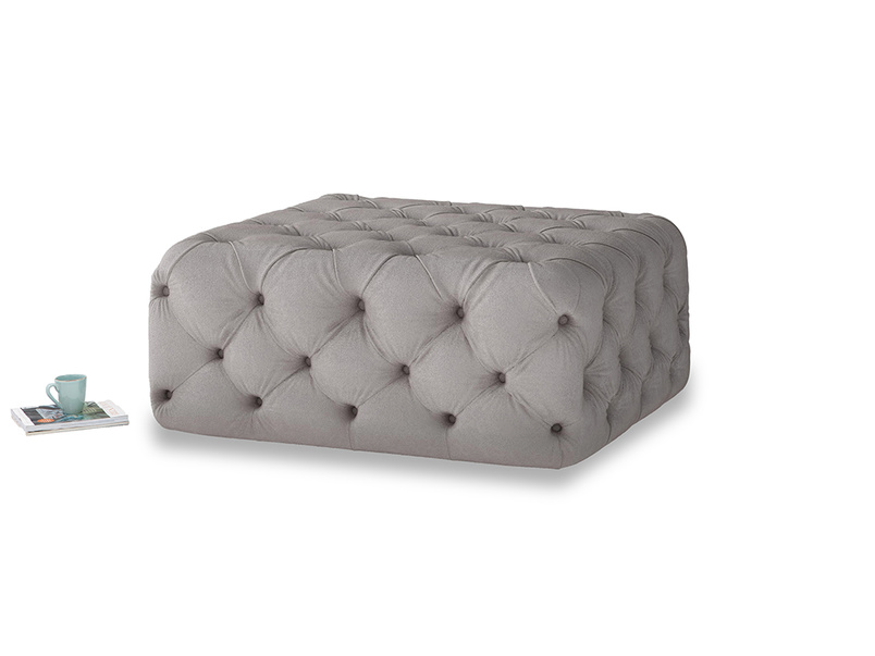 Oops-a-Lazy in Soothing grey vintage velvet