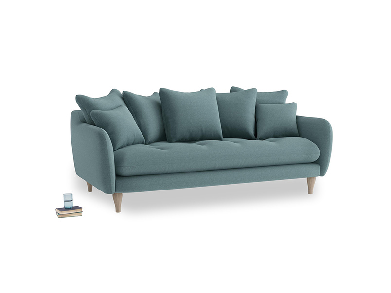 Large Skinny Minny Sofa in Marine washed cotton linen