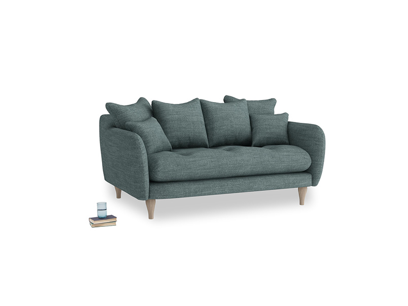 Small Skinny Minny Sofa in Anchor Grey Laundered Linen