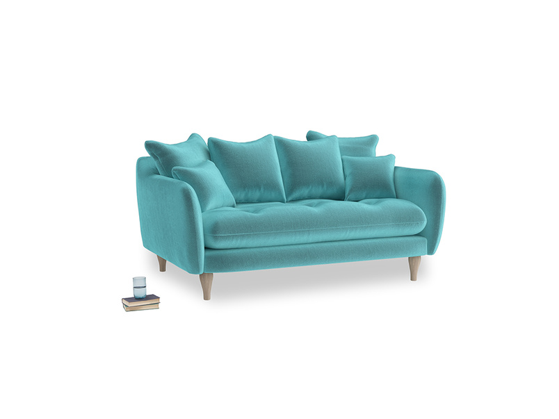 Small Skinny Minny Sofa in Belize clever velvet
