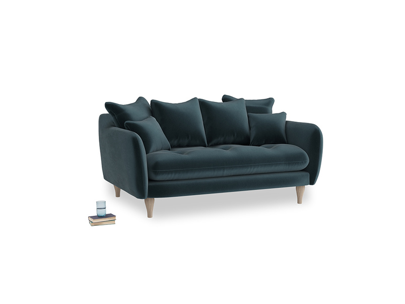 Small Skinny Minny Sofa in Bluey Grey Clever Deep Velvet