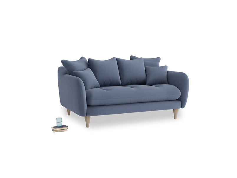Small Skinny Minny Sofa in Breton blue clever cotton