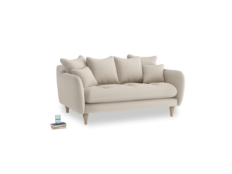 Small Skinny Minny Sofa in Buff brushed cotton