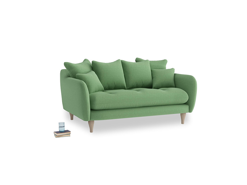 Small Skinny Minny Sofa in Clean green Brushed Cotton
