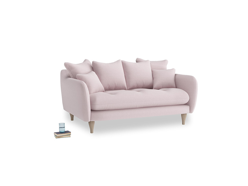 Small Skinny Minny Sofa in Dusky blossom washed cotton linen