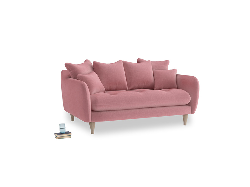 Small Skinny Minny Sofa in Dusty Rose clever velvet
