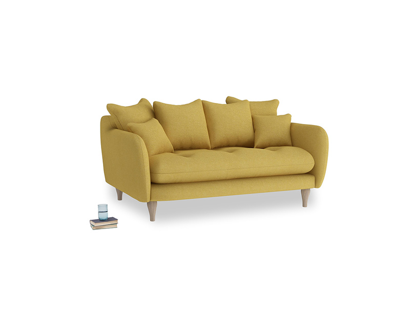 Small Skinny Minny Sofa in Easy Yellow Clever Woolly Fabric