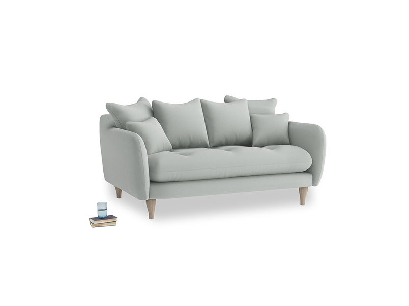 Small Skinny Minny Sofa in Eggshell grey clever cotton