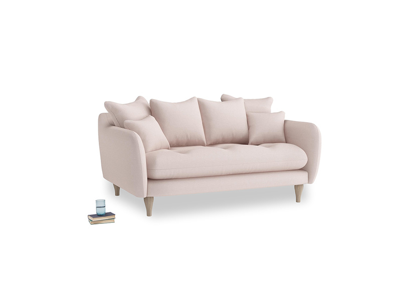 Small Skinny Minny Sofa in Faded Pink brushed cotton
