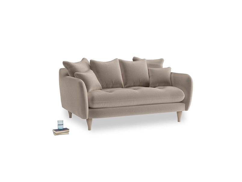 Small Skinny Minny Sofa in Fawn clever velvet