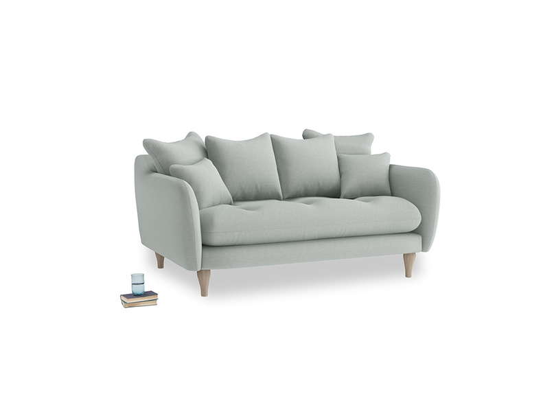 Small Skinny Minny Sofa in French blue brushed cotton