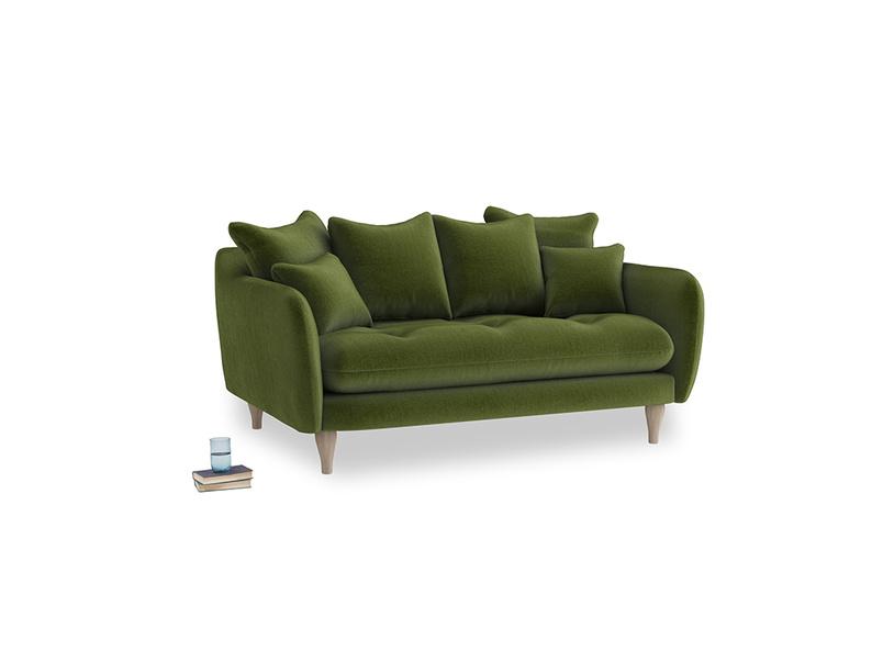 Small Skinny Minny Sofa in Good green Clever Deep Velvet