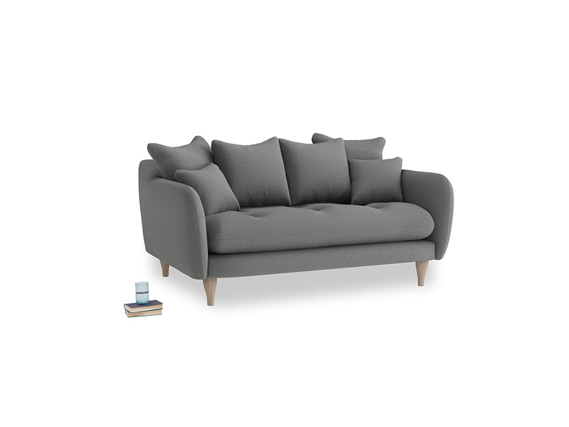 Small Skinny Minny Sofa in French Grey brushed cotton