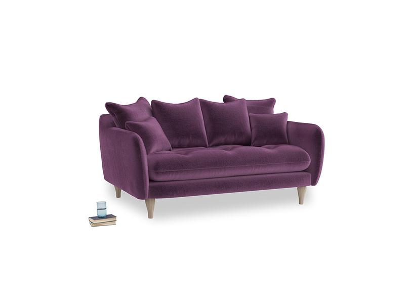 Small Skinny Minny Sofa in Grape clever velvet