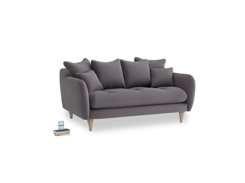 Small Skinny Minny Sofa in Graphite grey clever cotton