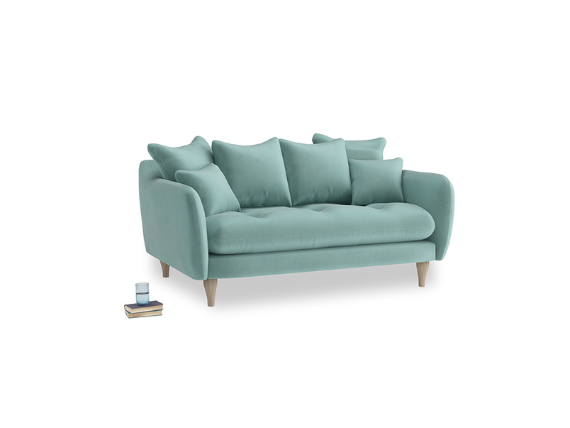 Small Skinny Minny Sofa in Greeny Blue Clever Deep Velvet