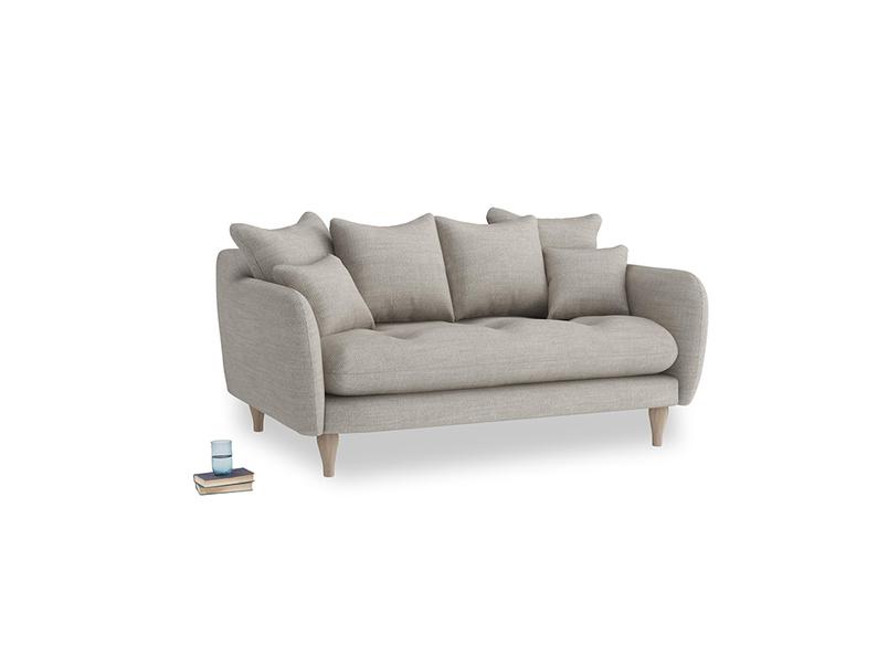 Small Skinny Minny Sofa in Grey Daybreak Laundered Linen