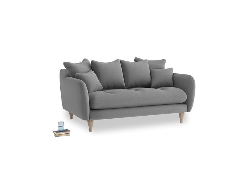 Small Skinny Minny Sofa in Gun Metal brushed cotton