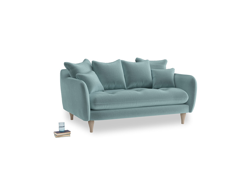 Small Skinny Minny Sofa in Lagoon clever velvet